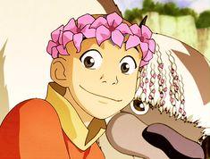 Aang wore flower crowns before it was cool. Avatar Aang, Avatar Airbender, Avatar Legend Of Aang, Avatar The Last Airbender Funny, The Last Avatar, Team Avatar, Legend Of Korra, Mystic Messenger, Mahal Kita
