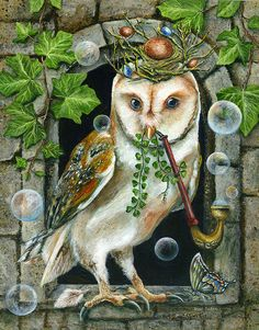 DIY Diamond Painting Cross Stitch animal owl Craft Home Decor Round Diamond Embroidery Christmas rhinestone Diamond Mosaic Owl Artwork, Owl Pictures, Beautiful Owl, Art Sculpture, Wise Owl, Whimsical Art, Bird Art, Pet Birds, Dragons