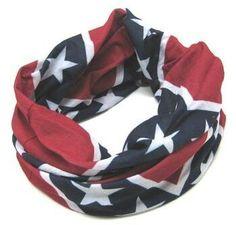 Confederate flag scarf
