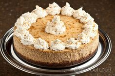 NY Style Pumpkin Cheesecake-I'm gonna mess around and make a cheesecake for each member of my family lol!