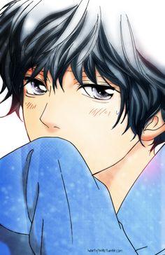 Ao Haru Ride - Kou Mabuchi so cute Manga Anime, Manga Boy, Anime Art, Cute Anime Boy, Anime Love, Anime Guys, Ao Haru Ride Anime, Kawaii, Futaba Y Kou