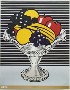 Still Life with Crystal Bowl Print by Roy Lichtenstein at Art.com