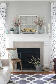 Gogeous apartment fireplace decor ideas (6)