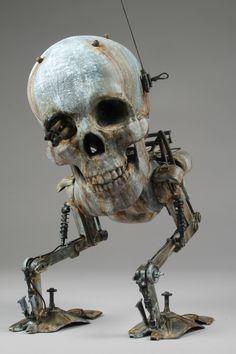 "SpankyStokes.com   Vinyl Toys, Art, Culture, & Everything Inbetween: Klav's ""Death Head Krote"" 3D Print & Maschinen Krieger kit-bash for Hop..."
