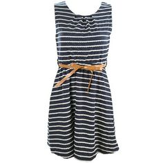 Stripe Dress Blue, $45, now featured on Fab.