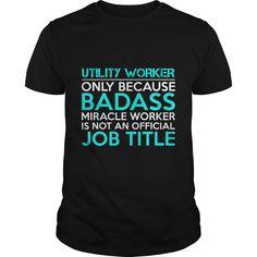 UTILITY WORKER Badass 1 P2 T-Shirts, Hoodies. Get It Now ==►…