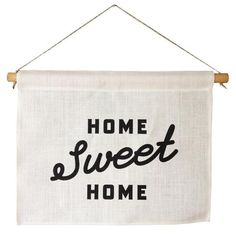 Inspired by folk art wall hangings of the late 19th century, our Home Sweet Home Banners are printed on imported Belgian linen mounted on solid birch dowels fitted with hanging waxed twine.