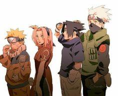 Naruto Team 7, Naruto Kakashi, Anime Naruto, Naruto Fan Art, Naruto Comic, Naruto Cute, Manga Anime, Naruto Uzumaki Shippuden, Tsunade And Jiraiya