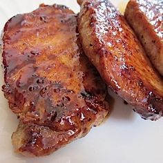 Add glazed pork chops to your quick and easy week night dinners list.