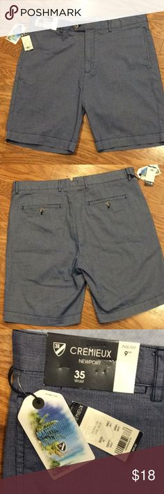 "Dillard's Men's Shorts Dark blue and white with 9"" inseam. 100% Cotton Daniel Cremieux Shorts"