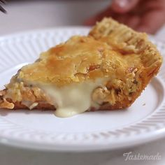 This shredded chicken pie is the perfect combination of flavorful chicken, gooey cheese and crispy golden pie crust in every bite. I Love Food, Good Food, Yummy Food, Chicken Flavors, Chicken Recipes, Turkey Recipes, Food Porn, Food And Drink, Cooking Recipes