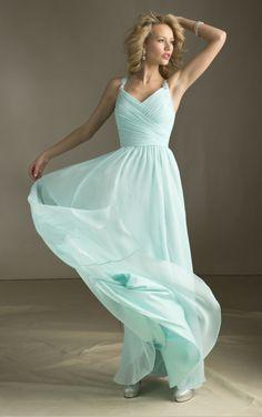 love the color bridesmaid dresses,Blue Bridesmaid Dress Long Dress