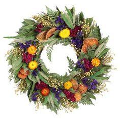 "Preserved Amber Summer 22"" Wreath"