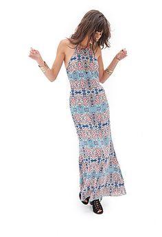 Crossback Floral Maxi Dress | FOREVER21 - 2000067064