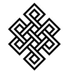 El nudo infinito representa la mente del Buda, pues su conocimiento es ilimitado y permanente como el nudo que no tiene principio, ni fin. Simboliza la u