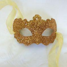 Golden Girl Shimmer Venetian Masquerade Mask  Masked Ball Party Prom Mask