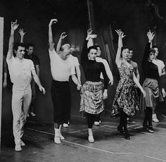 Choreographer Jerome Robbins, second left, with Chita Rivera. Dance Photos, Dance Pictures, West Side Story Cast, Curtains The Musical, Jerome Robbins, Rivera, American Ballet Theatre, Kodak Moment, City Ballet