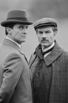 Jeremy Brett and David Burke at event of The Adventures of Sherlock Holmes (1984)