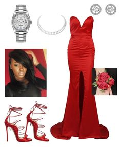 """""""Prom Night ♥️🌹"""" by jwolley ❤ liked on Polyvore featuring Dsquared2, Rolex and Cartier"""