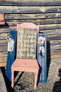 """We know you would be here today if Heaven wasn't so far away"" - wedding sign to remember loved ones {Andie Freeman Photography}"