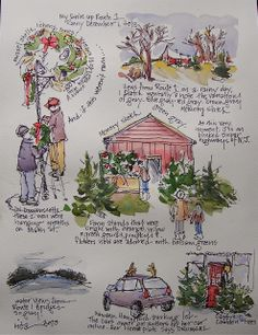 Sketchbook Wandering: Traveling North on Maine Route 1
