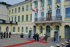 President Sauli Niinistö and his wife Jenni Haukio welcomed guest in Helsinki