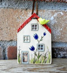 Ceramic house clay house pottery house house by potteryhearts, $20.00
