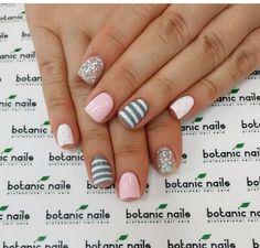 Pink and grey Shellac Nail Designs, Shellac Nails, Nude Nails, Diy Nails, Nails Design, Nail Polish, Cute Summer Nail Designs, Diy Nail Designs, Simple Nail Art Designs