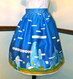 Nintendo Lolita Skirt by Corset Wonderland // Awwwwwwww yeah! I totally would! ;}