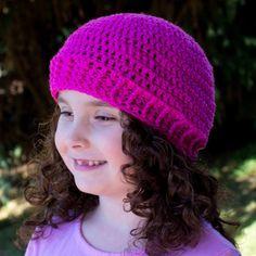 Easy Basic Beanie Crochet Pattern via Hopeful Honey