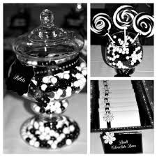 Black and white party decorations have been very popular nowadays and you can afford it with cheap prices in becoming centerpieces at high value that applicable based on DIY ideas and plans Black And White Party Decorations, Black White Parties, Black And White Theme, Lolly Buffet, Candy Buffet Tables, Dessert Tables, Buffet Ideas, Candy Table, White Party Foods