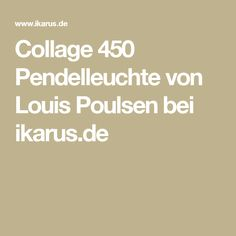 Collage 450 Pendelleuchte von Louis Poulsen bei ikarus.de