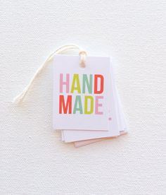Handmade tags Product tags Handmade business by PrintSmitten, $12.00