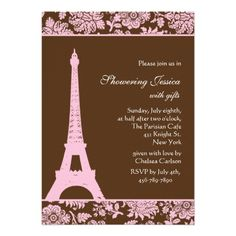 21 best paris themed bridal shower invitations images on pinterest paris and chocolate bridal shower invitation filmwisefo