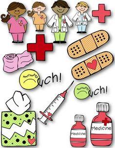 Nurse's Office Clip Art ~ Commercial Use OK ~ Bandaid ~ Medicine Nurse Office Decor, School Nurse Office, Nursing Assistant Week, Drawing For Kids, Art For Kids, Nurse Bulletin Board, Bulletin Boards, Nurse Art, Superhero Classroom