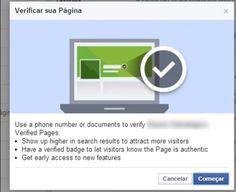 Saiba como verificar páginas no Facebook