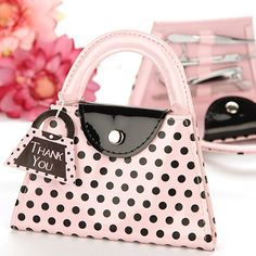 Great party favor. Mini Purse Shaped Manicure Sets by Beau-coup