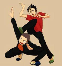 Nishinoya Yuu x Tanaka Ryuunosuke being cute dorks