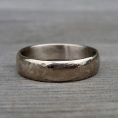 Simple Unique Wedding Band Set of Hammered Gold Unique weddings