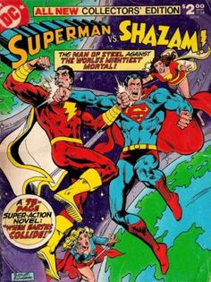 Helping you navigate the very best stories of DC Comics' most beloved characters decade by decade. This week, we look at the best Captain Marvel/Shazam comics. Dc Comic Books, Vintage Comic Books, Vintage Comics, Comic Book Covers, Comic Art, Comic Pics, Dc Comics, Flash Comics, Caricature