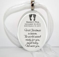 First Christmas in Heaven Ornament by bugaboojewelry on Etsy, $12.00
