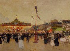 At The Fair  Painting  - Luigi Loir