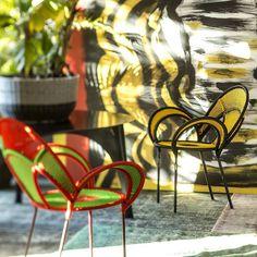Coleção Banjoli desenhada por Sebastian Herkner para a Moroso e disponível na QuartoSala - Home Culture #sebastianherkner #banjoli #senegal #chairs #outdoor #areaexterna #casa #interiorstrends2016 #lojas #decoração #design #quartosala