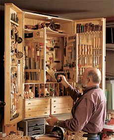 Tool cabinet. Buy the tools, build it, put the tools in what you have built.