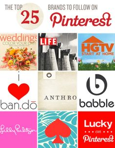 The Top 25 Brands to Follow on Pinterest