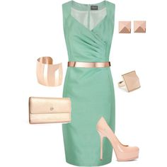A fashion look from June 2012 featuring Alexon dresses, Yves Saint Laurent pumps and Chanel wallets. Browse and shop related looks.