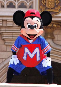 Mickey looking very cool in his outfit.