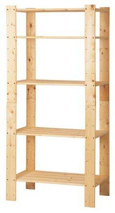 HEJNE 3 sections/shelves 230x31x171 cm IKEA Kids