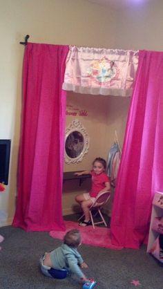 KJ's princess dress up area
