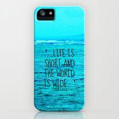 LIFE IS SHORT II  iPhone Case by Tara Yarte  - $35.00